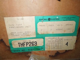4- GE THFP263 100A 2p 600V Fused Panelboard Switch Surplus in One Box - $2,000.00