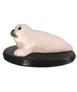 Baby Harp Seal Pup sculpture 12 X 4 in. - $49.50