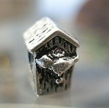 NICE Bird house Charm bead jewelry sterling silver 925 - $26.93
