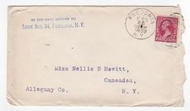ALLEGANY CO. FREDONIA, NY FEBRUARY 25 1892 - $2.52