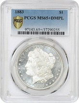 1883 $1 PCGS MS65+ DMPL - Morgan Silver Dollar - Blazing DMPL Mirrors - $3,084.60