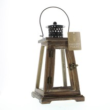 Wooden Lantern Candle Holder, Small Outdoor Rustic Candle Lanterns Decorative - $31.83