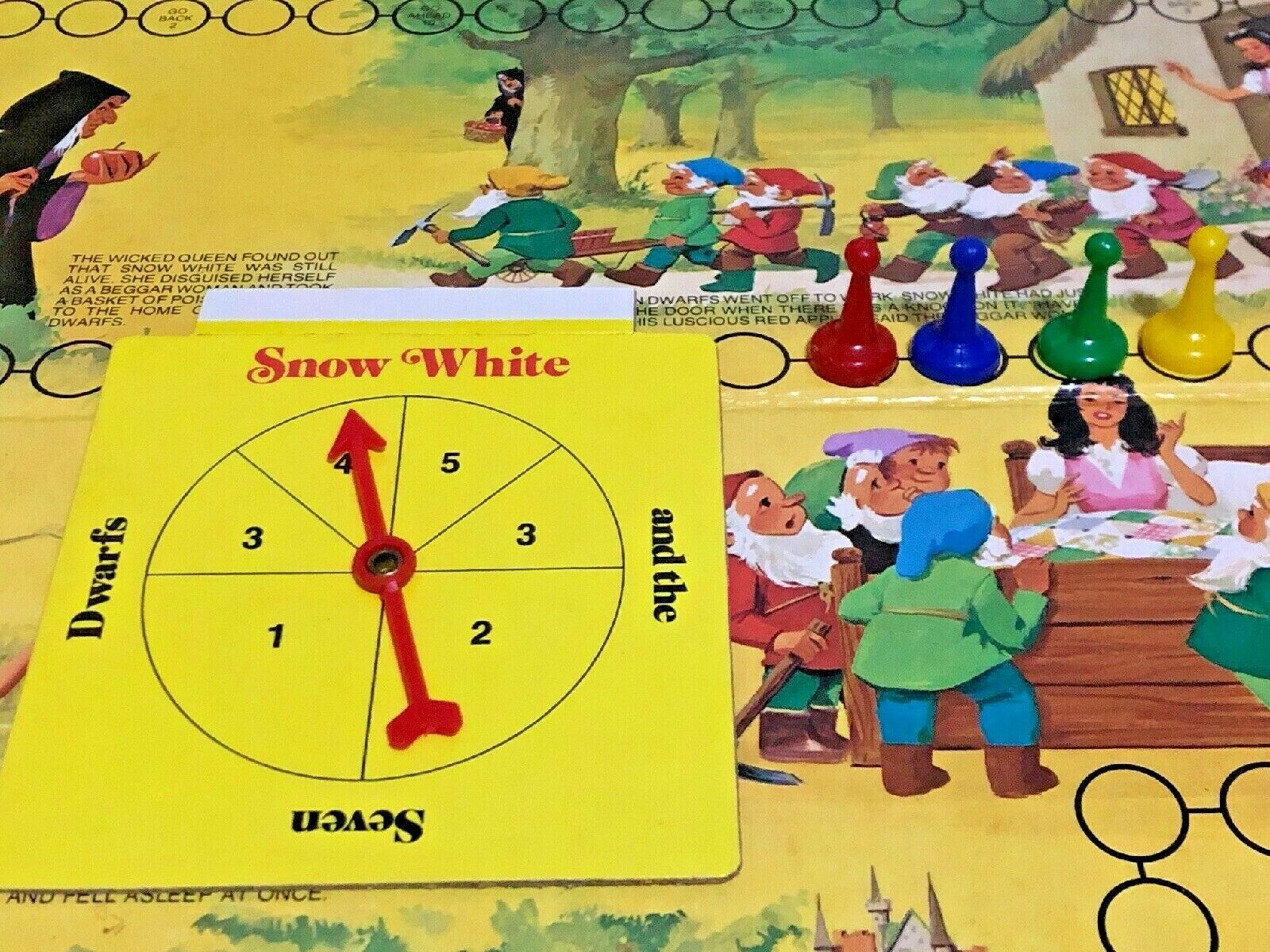 Vintage Snow White and the Seven Dwarfs Board Game Cadaco 1977 COMPLETE image 2