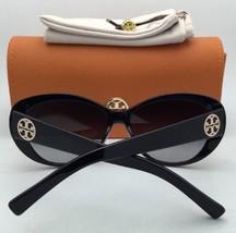 b3aaf55256 New TORY BURCH Sunglasses TY 9049 13773 Black Gold Cat-Eye Frame w  Smoke