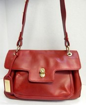 Badgley Mischka Red Leather Turnlock Shoulder Bag - $139.99