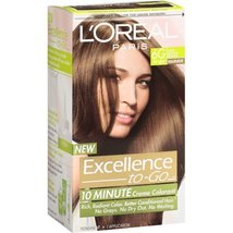 L'Oreal Excellence To-Go 10 Minute Creme Colorant - 6G Light Golden Brown  - $29.99
