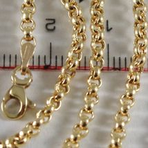Chain in Gold Yellow 750 18k 40 Length 45 50 60 CM, Rolo rings 2.5 mm thick image 3
