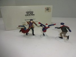 """Department 56 Heritage Village """"Skating Party"""" #55239 W/BOX - $11.26"""