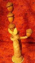 Vintage Inspired Spun Cotton Nut Balancing Squirrel 264 image 2