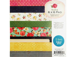 Crate Paper Random 6x6 Inch Paper Pad #RD989