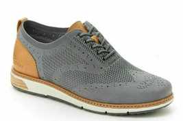 NEW J Sport By Jambu Mens Gray Lincoln Oxford Lace Up Wingtip Shoes