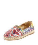 Prada Jacquard 20mm Espadrille Multicolored Shoes  MSRP $570 Size 40.5 - $356.40