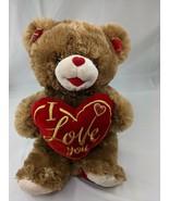 "Sweetheart Teddy Bear Plush Brown 18"" I Love You Red Heart 2020 Stuffed ... - $19.95"