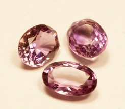 loose Amethyst Gemstone 3 pcs set cut Oval for Jewellery TCW-8.90 (677) - $14.84