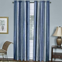 "Achim Home Furnishings Ombre Window Curtain Panel, 50"" x 63"", Blue - $33.64"