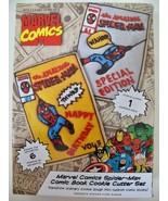 Williams Sonoma Marvel Comics Cookie Cutter Set Spider Man Comic Book NIB $19.99 - $9.99