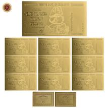 WR 10× Zimbabwe 100 Trillion Dollar Gold Banknote Polymer Note /w Zimbab... - $20.52