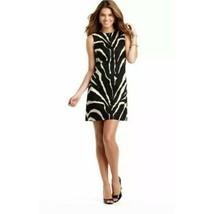NWT Loft Zebra Shift Dress Sleeveless Black & Tan Zebra print Safari 14  - $29.92