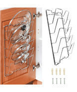 Cabinet Lid Organizer Kitchen Over the Door Wall Mount Pantry Storage  - £25.69 GBP