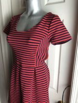 J. Crew Womens -Size 4 -Red/Navy Stripe Scoop Neck S/S Ponte Dress -A0120 image 5