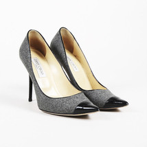 Jimmy Choo Gray Wool Patent Leather Pointed Pumps SZ 39 - $225.00