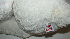 "Ganz Plush large cream stuffed teddy bear brown nose polka dot bow 13-18"" w/ tag image 5"