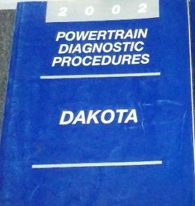 Primary image for 2002 Dodge DAKOTA TRUCK Powertrain Diagnostic Procedures Manual OEM Mopar 2002