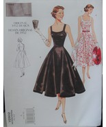 Vogue Retro Sewing Pattern 2902 Dress Inspired by 1950s Sizes 6-10 Uncut - $11.99