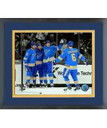 St. Louis Blues 2018-19  Action on Ice -11x14 Matted/Framed SpotlightPhoto - $43.55