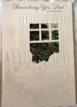 Hallmark Tri-Fold Dad Christmas Greeting Card 1980s Used - $4.99