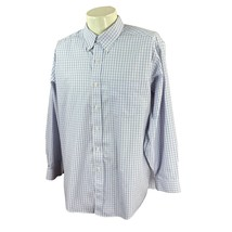 LL Bean Men's Traditional Fit  Wrinkle Free Blue Pink Check Dress Shirt ... - $19.78