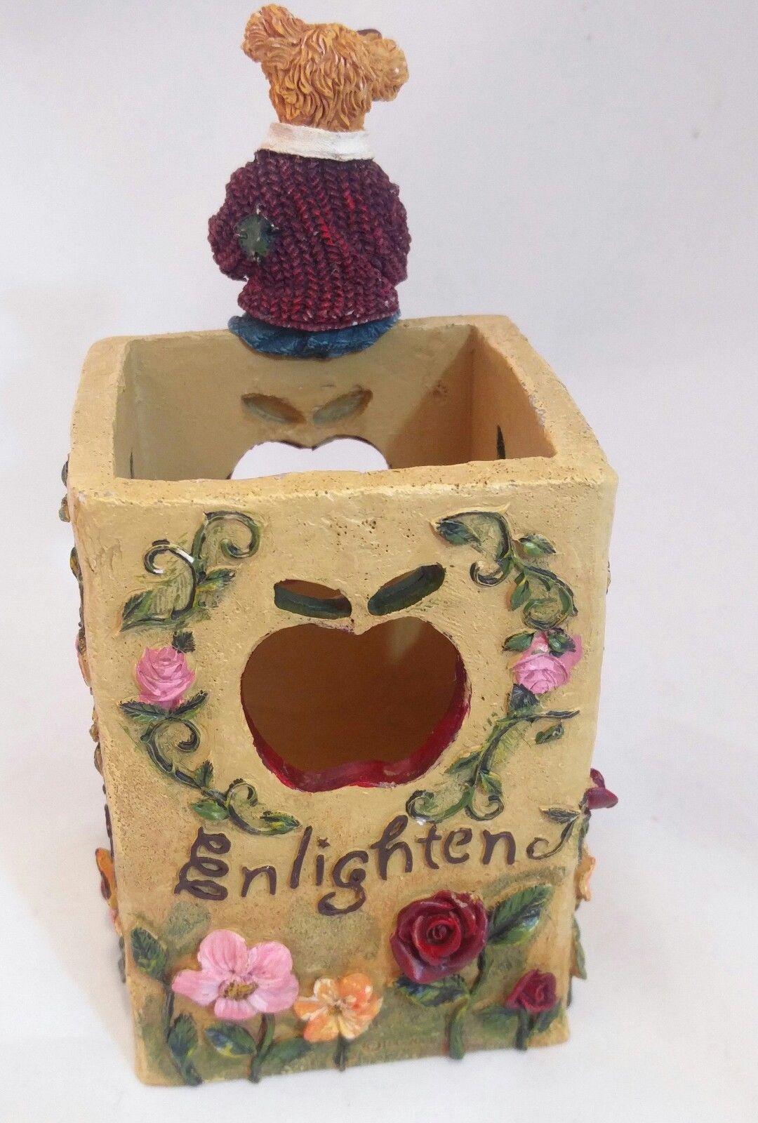 The Bearstone Collection Miss Ann Lighten's Pencil Holder #4016624 Teacher Gift image 3