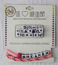 Make Your Own Block Letter Bracelet with Heart by SO - New - $12.99