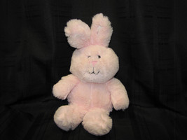 Animal Adventure 2015 Pink Bunny Rabbit Fluffy Cream Ears Black Embroidered Face - $47.02