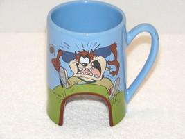 "Warner Bros Tasmanian Devil ""Taz"" 16 Oz Practice Putting Hole Coffee Mug Guc - $19.99"