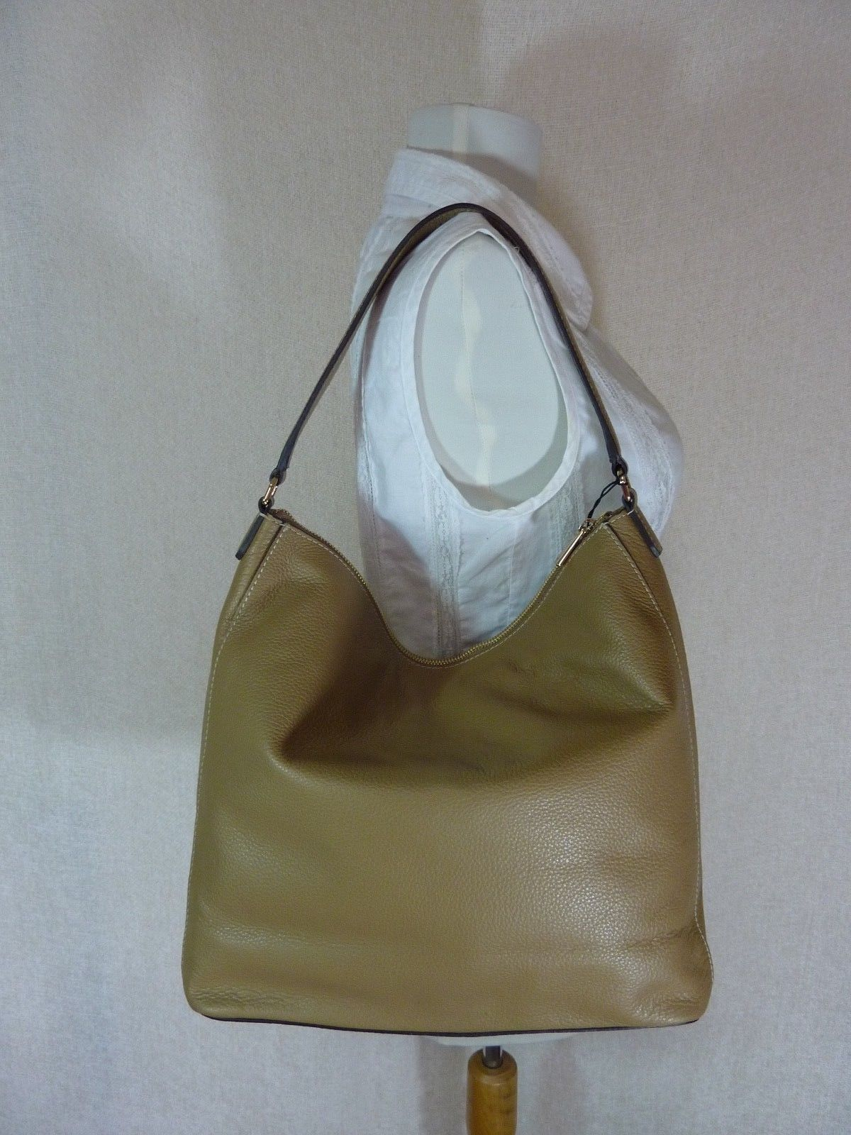 NWT Furla Cappuccino Pebbled Leather Jo Vertical Tote Bag image 4