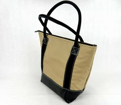 Santa Barbara Cooler Tote ~ Insulated PEVA Lining, Leather Bottom, Sweda... - $14.65