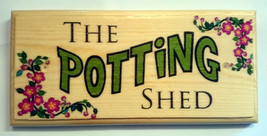The Potting Shed - Plaque / Sign / Gift - Garden Grandad Nanny Dad Flowe... - $12.35