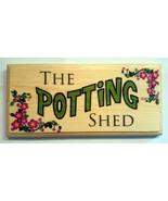 The Potting Shed - Plaque / Sign / Gift - Garden Grandad Nanny Dad Flowe... - $12.35