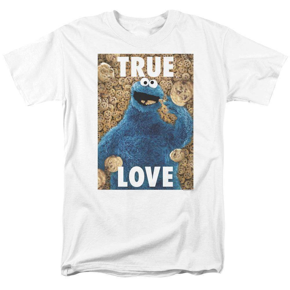 Sesame Street T-shirt Cookie Monster True Love Retro TV graphic tee SST145