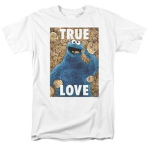 Sesame Street T-shirt Cookie Monster True Love Retro TV graphic tee SST145 image 1