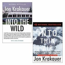 Jon Krakauer 2 Books Collection Set (Into the Wild & Into Thin Air: A Pe... - $19.99