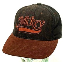 Vintage Walt Disney Mickey Mouse Hat Black Wool Suede Snapback Hat-USA - $28.04