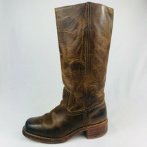 FRYE Womens Campus 14L DBN 77050 Brown Distressed Leather Riding Boots S... - $168.29
