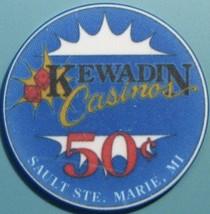 50¢ Casino Chip. Kewadin, Sault Ste Marie, MI. V46. - $4.29