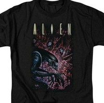 Alien Movie T-shirt Horror Action Sci Fi graphic black tee Retro 80s TCF277 image 2