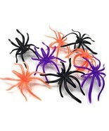 288 Bulk Halloween Spider Ring Assortment - Orange, Purple, Black, and G... - £14.77 GBP