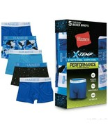 Hanes X-Temp Boys' Boxer Briefs Pack of 5 Youth SZ LG 14-16 Shades of Blue - $15.95