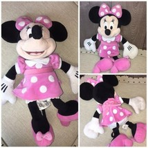 "Disney Plush Toy Pink Dress Minnie Mouse 18"" Stuffed Doll  - $14.50"