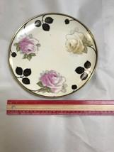 "Vintage Royal Munich Z.S & C Bavaria 8 1/2"" Plate - Floral Design W/ Bla... - $47.41"